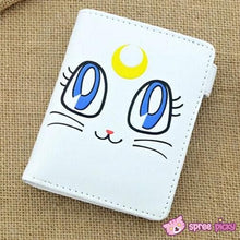Load image into Gallery viewer, Sailor Moon Artemis White Kitten PU Leather Wallet SP151941 - SpreePicky  - 1
