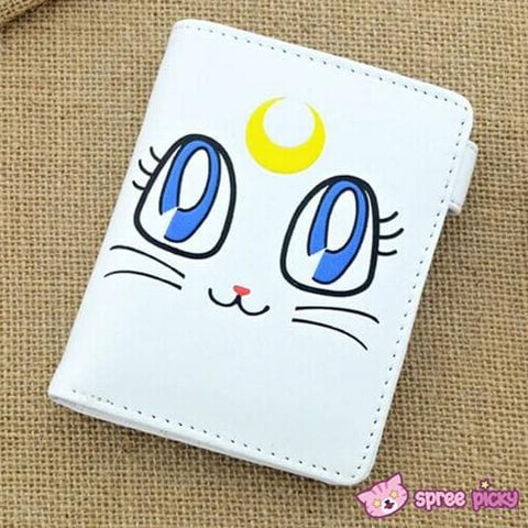 Sailor Moon Artemis White Kitten PU Leather Wallet SP151941 - SpreePicky  - 1