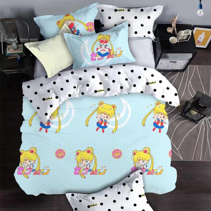 Sailor Moon Chibi Luna Bedding 4 Pieces Set SP179227