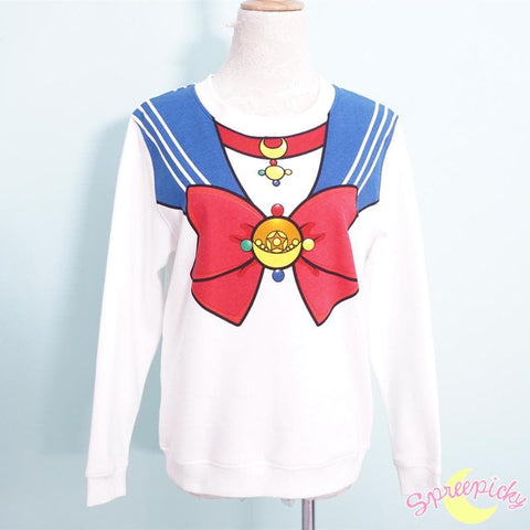 [Sailor Moon Crystal] Manga Version Bow Fleece Jumper SP151633 - SpreePicky  - 3