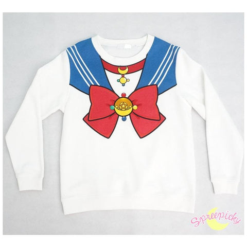 [Sailor Moon Crystal] Manga Version Bow Fleece Jumper SP151633 - SpreePicky  - 1