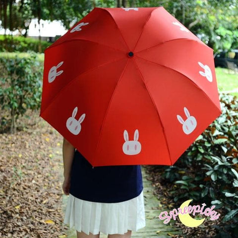 [3 Colors] Sailor Moon Crystal Usagi Bunny 3 Folding Umbrella SP151637 - SpreePicky  - 5