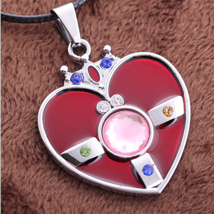 [Sailor Moon] Heart Brooch Necklace SP152761 - SpreePicky  - 1