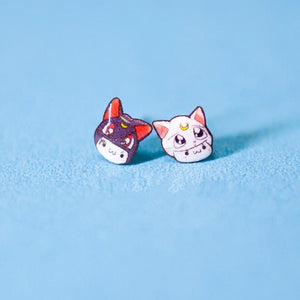Sailor Moon Luna And Artemis Earrings SP165335