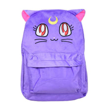 Load image into Gallery viewer, Sailor Moon Luna Fluffy Plush Backpack SP130267 - SpreePicky  - 2