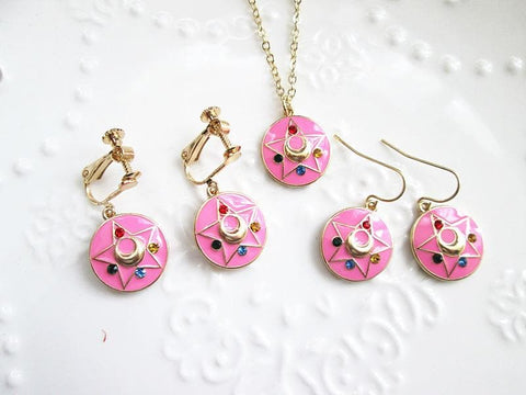 Sailor Moon Make Up Brooch Earrings Pierce/Clips/Necklace  SP141131 - SpreePicky  - 2
