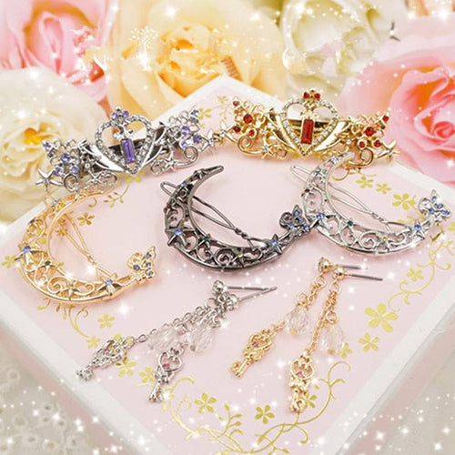 Sailor Moon Moon Key Earrings Hair Clip SP179405