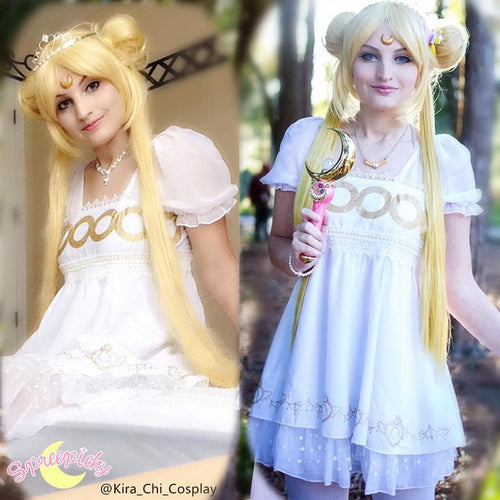 S/M/L Sailor Moon Princess Serenity Short Dress SP141125 - SpreePicky  - 1