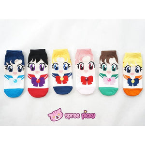 6 Colors Sailor Moon Series Cotton Socks SP151896 - SpreePicky  - 2