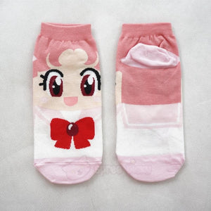6 Colors Sailor Moon Series Cotton Socks SP151896 - SpreePicky  - 4