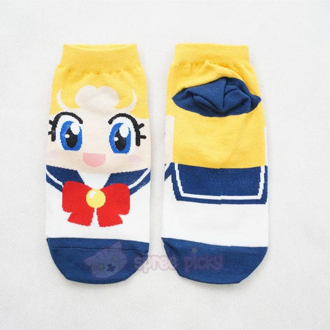 6 Colors Sailor Moon Series Cotton Socks SP151896 - SpreePicky  - 5