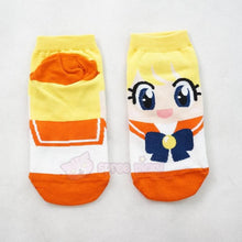 Load image into Gallery viewer, 6 Colors Sailor Moon Series Cotton Socks SP151896 - SpreePicky  - 6