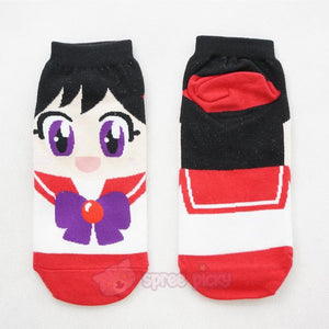 6 Colors Sailor Moon Series Cotton Socks SP151896 - SpreePicky  - 8