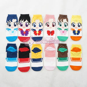 6 Colors Sailor Moon Series Cotton Socks SP151896 - SpreePicky  - 3