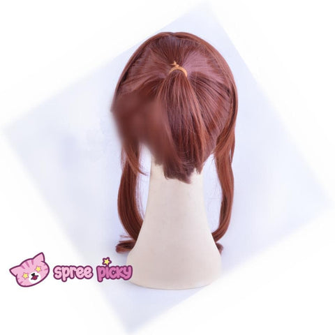 Sailor Moon Sailor Jupiter Kino Makoto Brown Wig with Pony Tail 2 Pieces SP151663 - SpreePicky  - 5