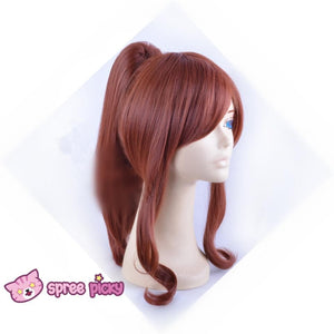 Sailor Moon Sailor Jupiter Kino Makoto Brown Wig with Pony Tail 2 Pieces SP151663 - SpreePicky  - 3