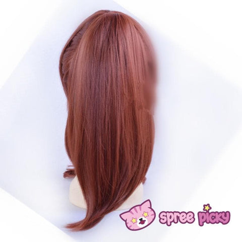 Sailor Moon Sailor Jupiter Kino Makoto Brown Wig with Pony Tail 2 Pieces SP151663 - SpreePicky  - 4
