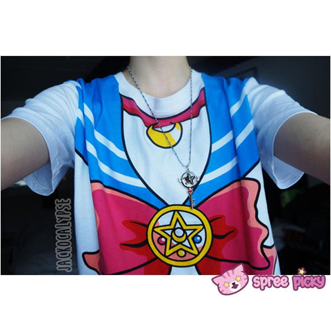 S-3XL [Sailor Moon] Short Sleeve Senshi Seifuku Printing Cotton T-Shirt SP140524 - SpreePicky  - 8