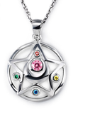 [Sailor Moon] Tsukino Usagi Moon Prism Silver Necklace SP152762 - SpreePicky  - 2