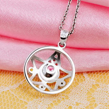 [Sailor Moon] Tsukino Usagi Moon Prism Silver Necklace SP152762 - SpreePicky  - 5