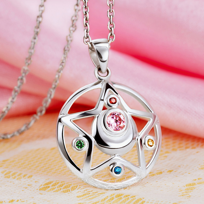 [Sailor Moon] Tsukino Usagi Moon Prism Silver Necklace SP152762 - SpreePicky  - 1