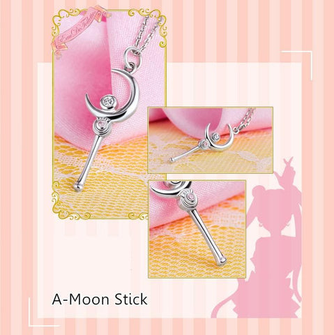Sailor Moon Tsukino Usagi Moon Stick Necklace SP153093 - SpreePicky  - 2