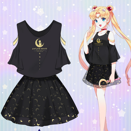 Sailor Moon Two-Piece Top and Skirt SP1710192