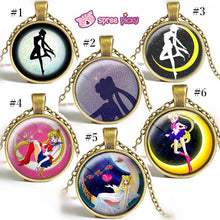 Load image into Gallery viewer, Sailor Moon Usagi Time Gem Necklace SP152752-SP152757 - SpreePicky  - 1