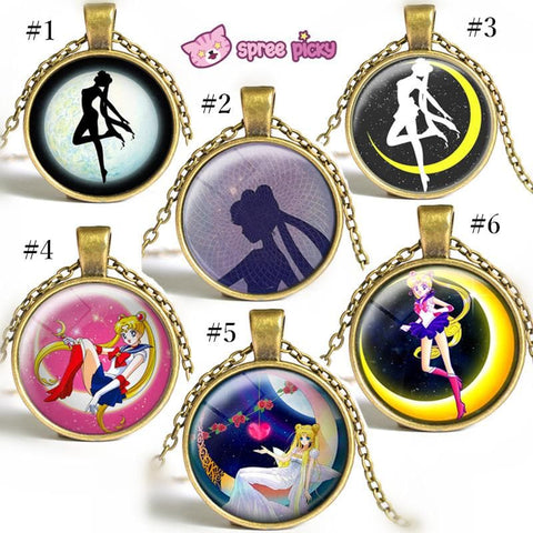 Sailor Moon Usagi Time Gem Necklace SP152752-SP152757 - SpreePicky  - 1