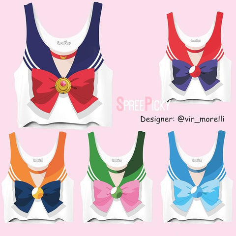 Sailor Senshi Bow Crop Top SP1710499