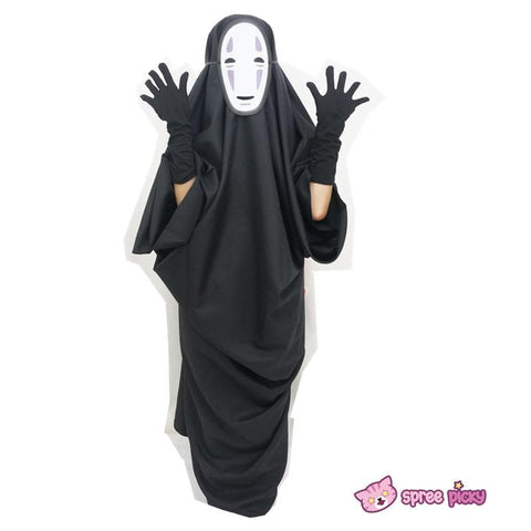 Sen and Chihiro's Spiriting Away NO FACE MAN Cosplay Costume Outfit SP141257 |Mask SP141264 - SpreePicky  - 2
