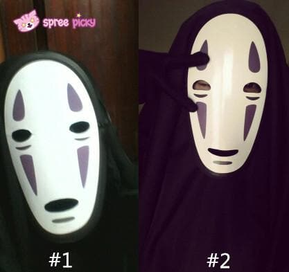 Sen and Chihiro's Spiriting Away NO FACE MAN Cosplay Costume Outfit SP141257 |Mask SP141264 - SpreePicky  - 4