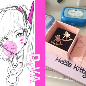 Overwatch Bunny D.va Earrings SP1711222