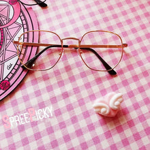 Load image into Gallery viewer, Silver/Golden/Black Kawaii Eyeglass Frame SP1812401
