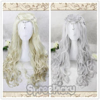 Silver/Golden Lolita  Long Curly Wig SP178637
