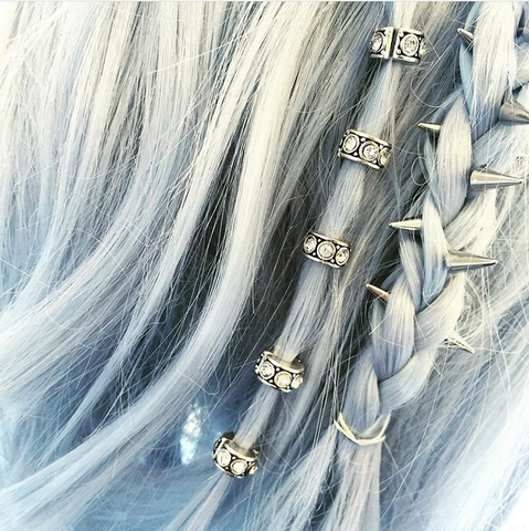 Silver/Golden Retro Punk Mini Hair Accessory SP168538