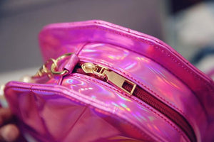 Silver/Pink/Hot Pink Hologram Laser Mermaid Sea Shell Shoulder Bag SP167380