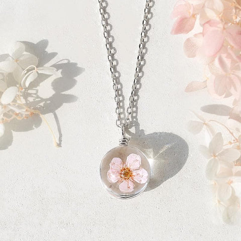 Silver Sakura Pendant/Necklace SP179468