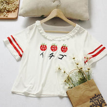 Load image into Gallery viewer, Strawberry Embroidery Two Pieces Set SP167220