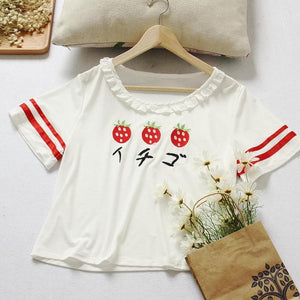 Strawberry Embroidery Two Pieces Set SP167220