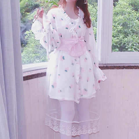 Strawberry Lace Lolita Bathrobe SP1711457