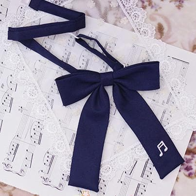 Student Music Note Embroidery Bow Tie SP165916