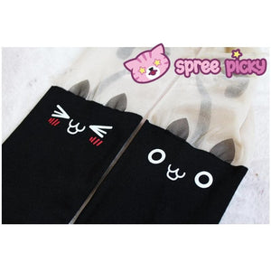 Super Cute Emoji Cats Fake Over Knee Tights SP130020 - SpreePicky  - 1