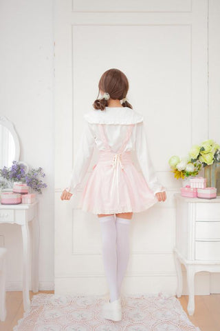 Sweet Bowknot Lace Joker Suspender Dress/Dress set SP164721 - SpreePicky  - 7