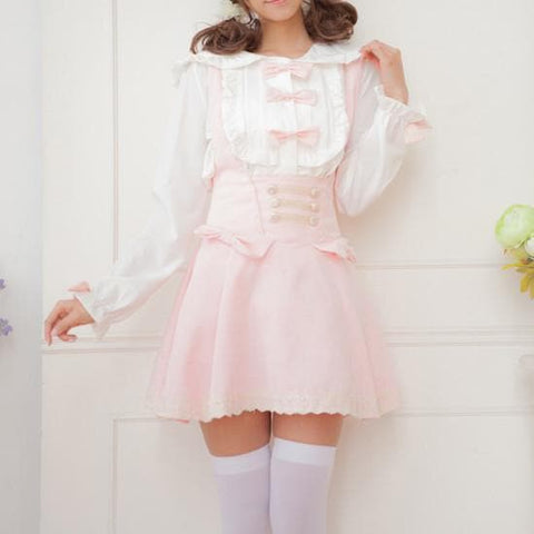 Sweet Bowknot Lace Joker Suspender Dress/Dress set SP164721 - SpreePicky  - 3