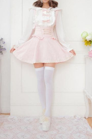 Sweet Bowknot Lace Joker Suspender Dress/Dress set SP164721 - SpreePicky  - 6