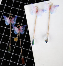 Load image into Gallery viewer, Sweet Butterfly Raindrop Earrings SP179502