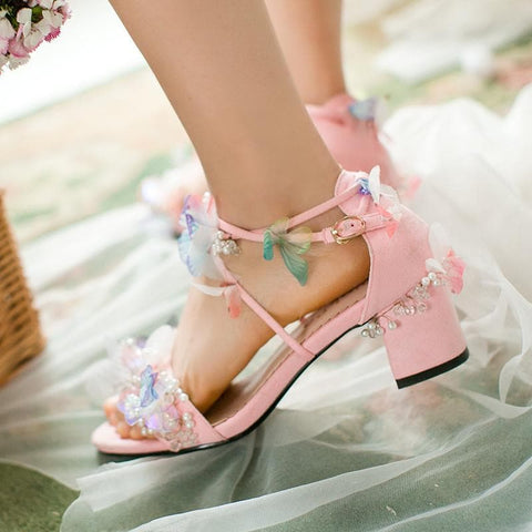 Sweet Fairy Laced Sandals SP179225