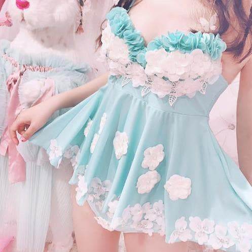Sweet Flower Lace Swimsuit SP1812052
