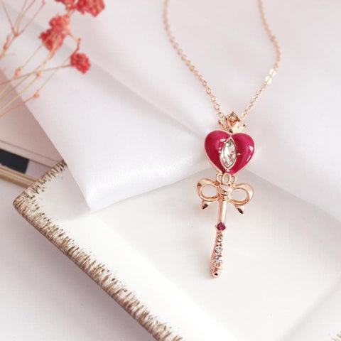Sweet Heart Bow Necklace SP1812631